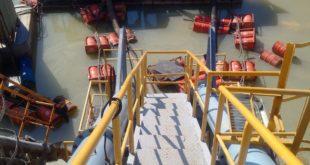 gia công kết cấu thép tại nhà máy xi măng bình phước, cầu thang thép xuống moong khai thác đá,