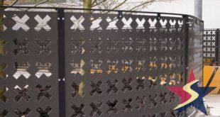 Hàng rào hoa văn sắt được gia công bằng phương pháp cắt cnc