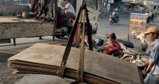 Tấm chống lầy, Thép tấm chống lầy, Tôn chống lầy, Thép tấm lót đường, hao phí tấm chống lầy, dịch vụ cho thuê tấm chống lầy, thuê tấm chống lầy tại TP.HCM, Cơ Khí Sao Việt