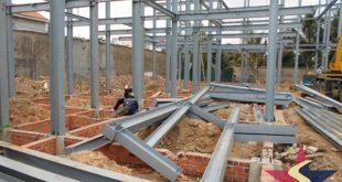 Kết cấu nhà thép tiền chế, Nhà thép tiền chế, Cơ Khí Sao Việt, Thi công nhà thép tiền chế, Xây dựng nhà thép tiền chế